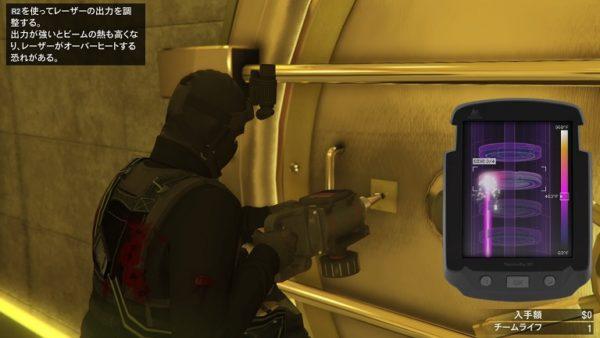 GTA5 カジノ強盗金庫レーザー